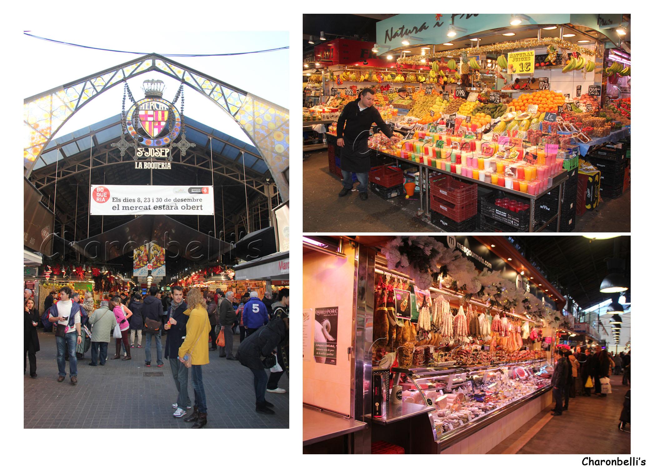 Barcelone - La Boqueria- Charonbelli's blog de voyages