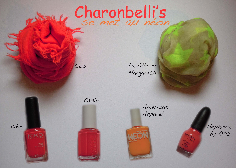 Charonbelli's en néon - Charonbelli's blog mode