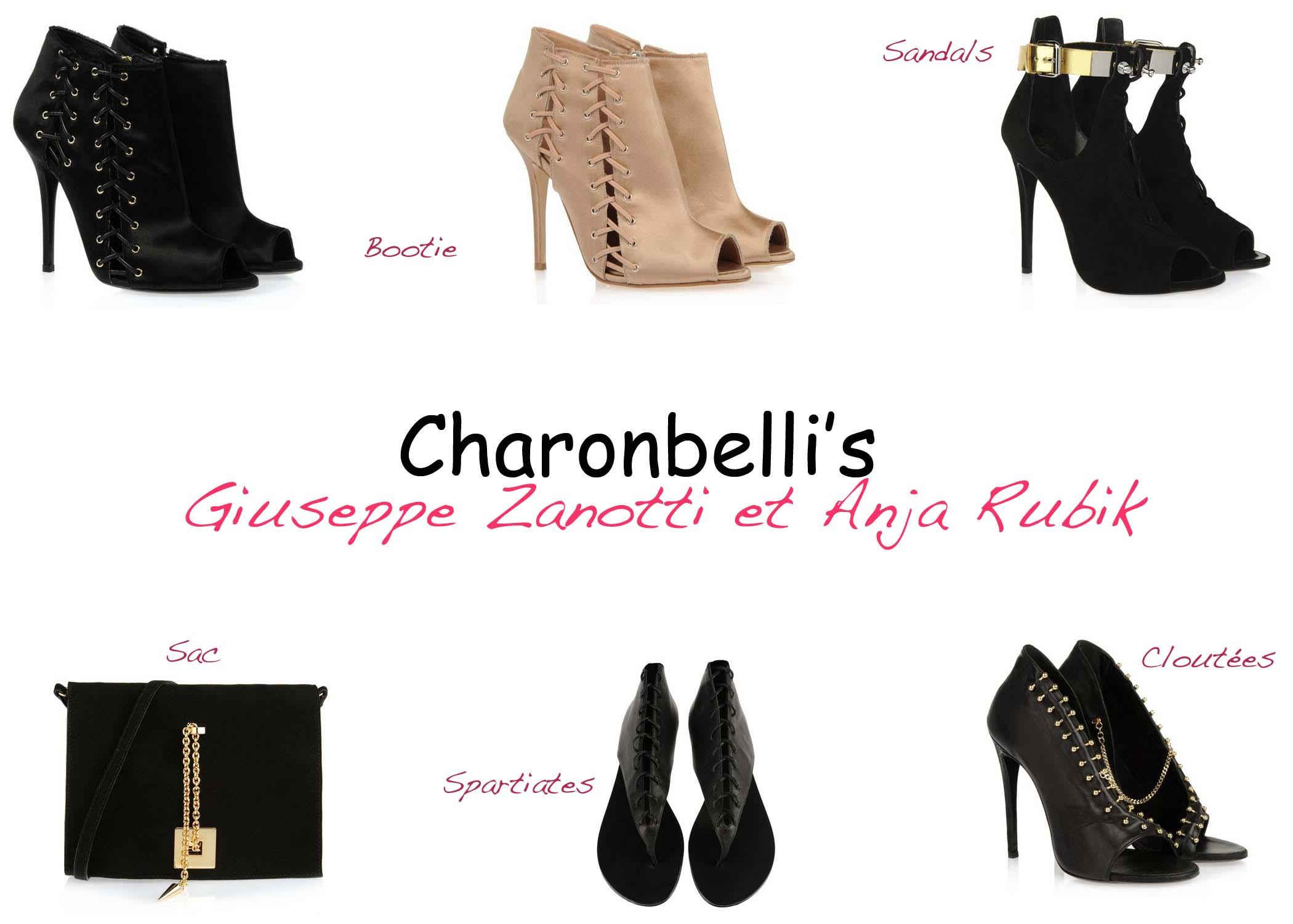 Charonbelli's, Giuseppe Zanotti, Anja Rubik - Charonbelli's blog mode
