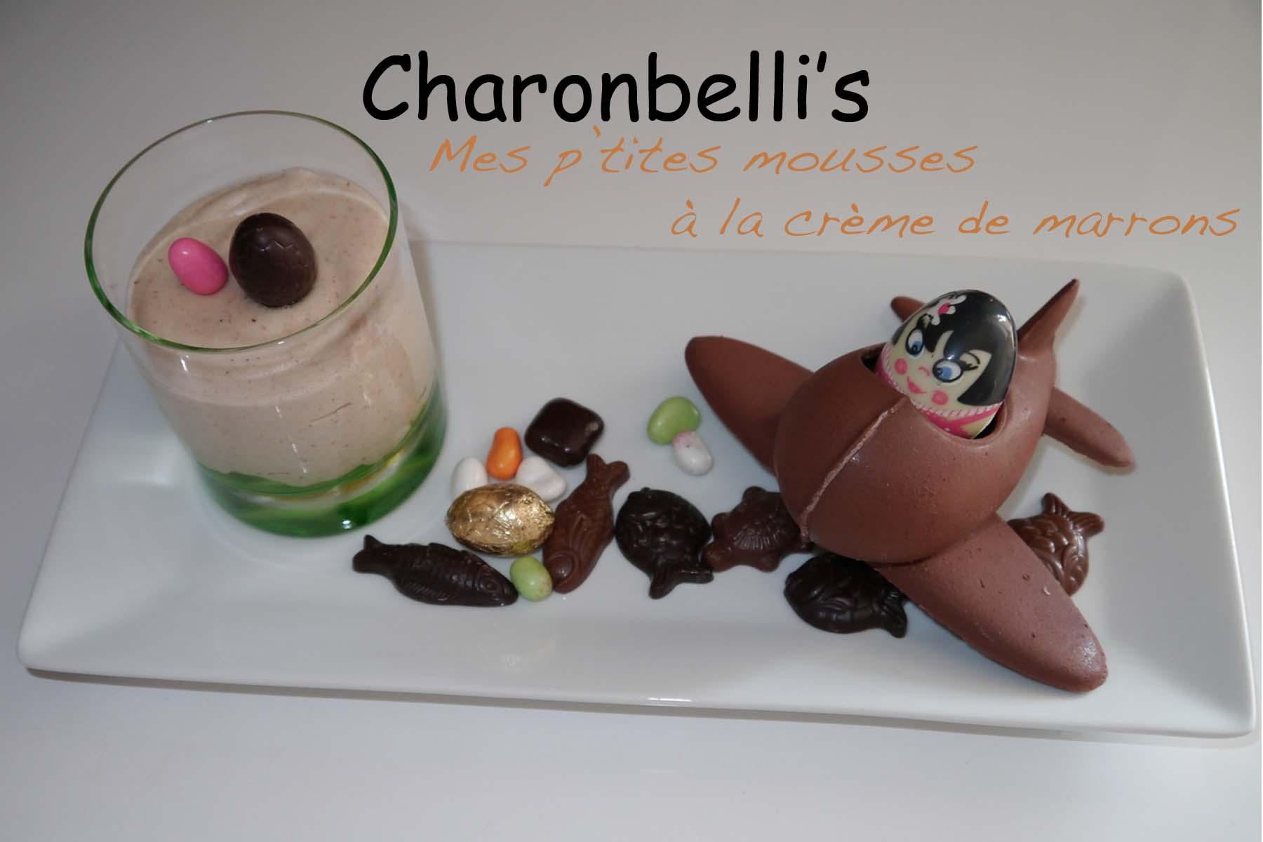 Mes p'tites mousses à la crème de marrons - Charonbelli's blog de cuisine