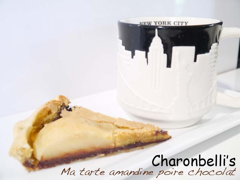 Ma tarte amandine poire chocolat (2) - Charonbelli's blog de cuisine