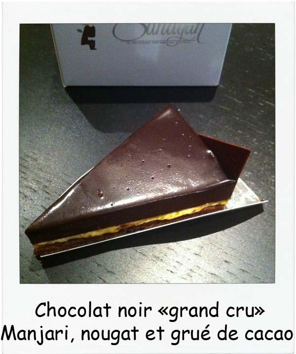 """Sandyan Toulouse Chocolat noir """"grand cru"""" Manjari, nougat et grué de cacao par Yannick Delpech - Charonbelli's blog de cuisine"""