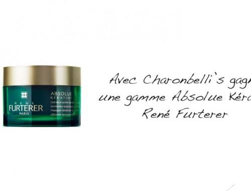 Avec Charonbelli's gagne une gamme Absolue Kératine René Furterer - Photo à la Une - Charonbelli's blog mode